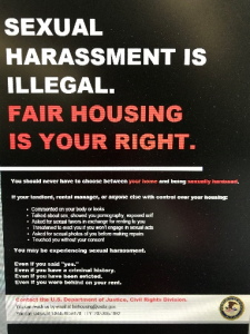 Sexual Harassment in Housing Banner