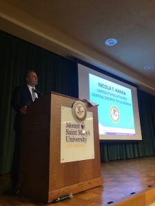 United States Attorney Nick Hanna at Resource Fair