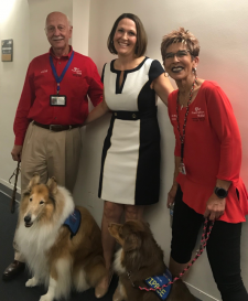 Therapy dog with Pet Prescription Team & AUSA