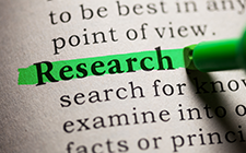 "Text with word ""Research"" highlighted"
