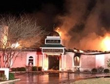 The Islamic Center of Victoria, in Victoria Texas, engulfed in flames after being set on fire – Read examples of federal hate crimes cases.