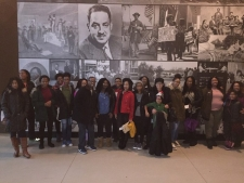 The U.S. Attorney's Office Leadership Academy with External Affairs Specialist Melanie Howard and Executive AUSA for Management Denise Clarke on a tour of the National Museum of African American History and Culture.