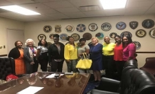 The Child Protection and Infant Fatality Prevention Symposium planning team meeting hosted by External Affairs Specialist Melanie Howard, AUSA Cynthia Wright, 2nd and 4th District Community Outreach Specialist Baretta Francis, and 7th District Community Outreach Specialist Lenney Lowe.
