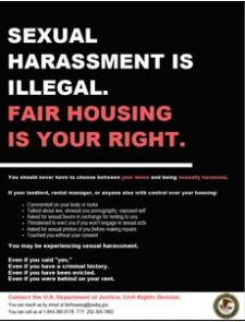 Flyer - Sexual Harassment is Illegal