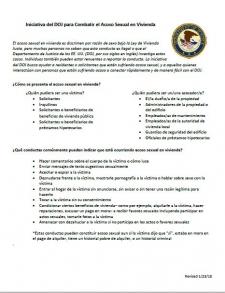 Iniciativa en Contra del Acoso Sexual en la Vivienda - Página de Info
