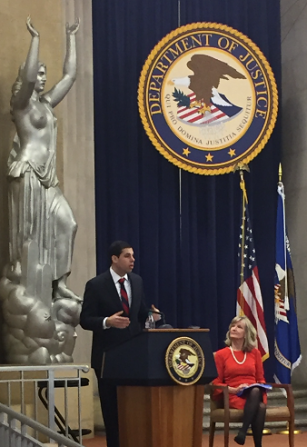 Image of Acting Associate Attorney General Jesse Panuccio providing welcome remarks