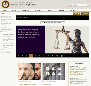 DOJ Hate Crimes website