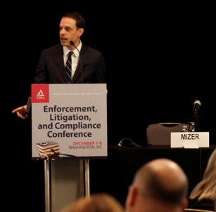 PDAAG Benjamin Mizer speaks to reps for the drug, medical device, food, and tobacco industries at the FDLI's Enforcement, Litigation & Compliance conference