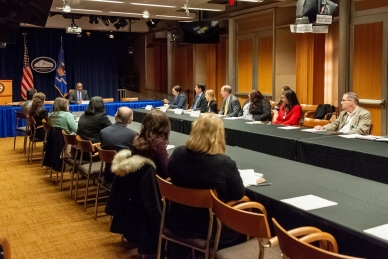 Members of the Legal Aid Interagency Roundtable meet