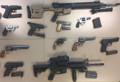 photo of seized firearms