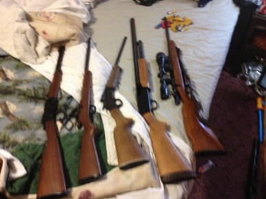 Firearms charged in Staples case