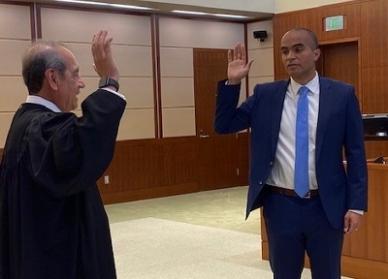 Nicholas Brown takes oath