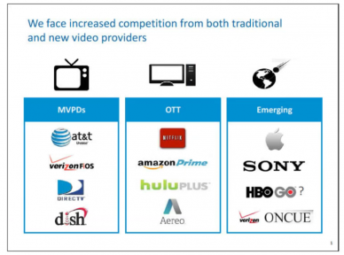We face increased competition from both traditional and new video providers