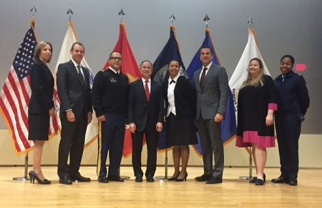U.S. Attorney Fishman and his staff first met with senior leadership, military lawyers, and civilian lawyers who represent service members