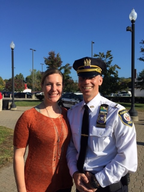 U.S. Attorney's Office Community Outreach Coordinator Emily Gagnon and Albany Police Lt. Anthony Gerasci.