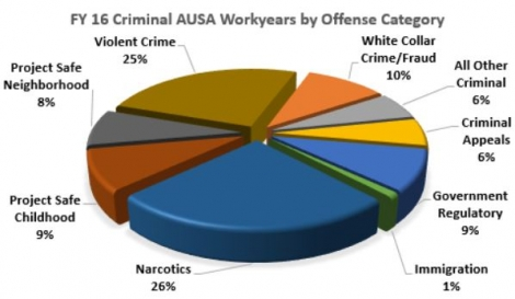 Fiscal Year 2016 Criminal AUSA Workyears