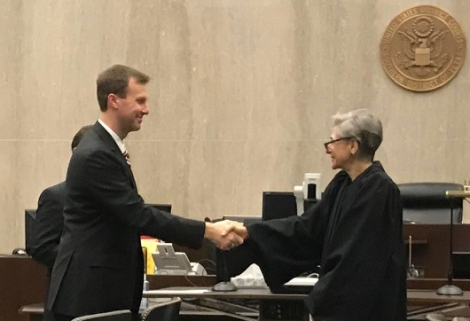 US Attorney Ryan Patrick and Judge Rosenthal