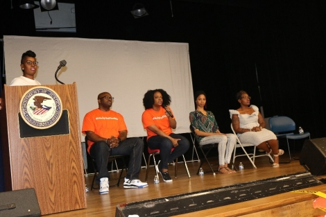 3RD District Community Outreach Specialist LaToya Davenport moderated a panel with Darryl Bryant, Jr. and Brandi Martin from Black and Missing and Roxanne Farrow from The Exodus Project; and Onari Lynea, from Healing Broken Wings Inc.