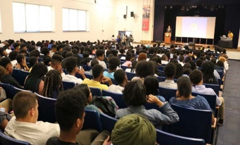 "Over 600 students attended the 7th Annual ""Breaking the Silence on Youth Violence Youth Summit"" at Friendship Collegiate High School."
