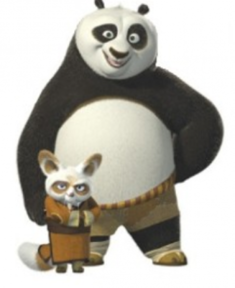 Dreamworks Po and Master Shifu
