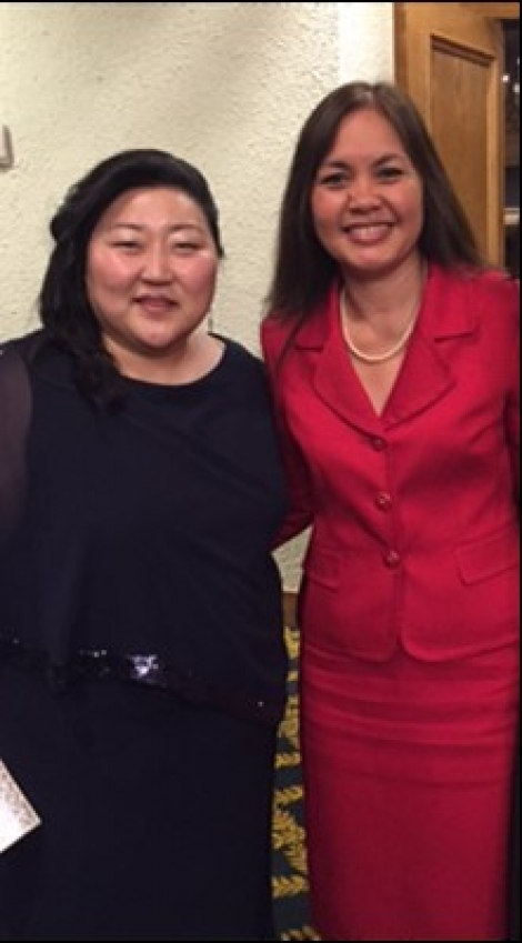 Picture of U.S. Attorney Alicia Limtiaco with NAPABA 2015 President Jin Y. Hwang