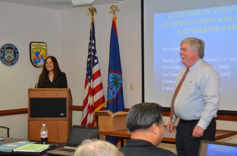Picture of U.S. Attorney Alicia Limtiaco with Assistant U.S. Attorney Thomas Colthurst at the OCDETF training for law enforcement