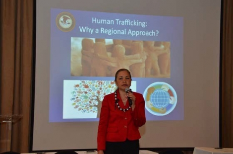 Picture of U.S. Attorney Alicia Limtiaco at the 2016 kNOw MORE Conference