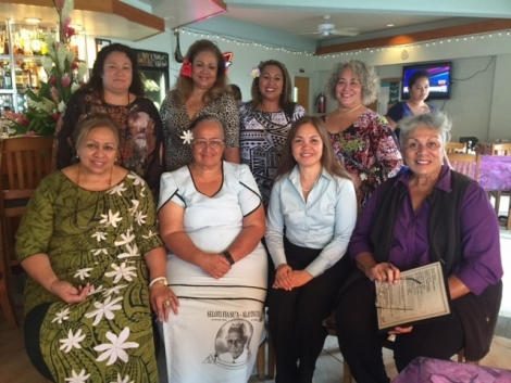Picture of U.S. Attorney Limtiaco meeting with members of the American Samoa Pacific Women Indigenous Network