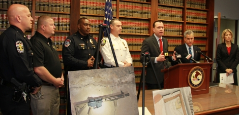 U.S. Attorneys Russell Coleman and Josh Minkler announce arrests