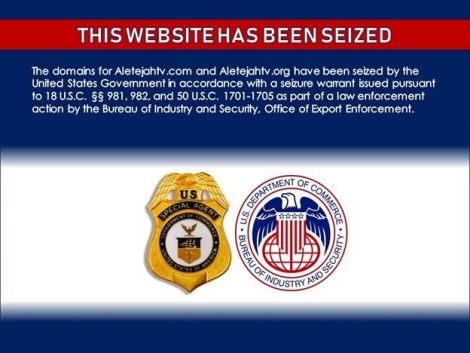 This Website has been seized. The domains or Aletejahtv.com and Aletejahtv.org have been seized by the United States Government in accordance with a seizure warrant issued pursuant to 18 U.S.C.