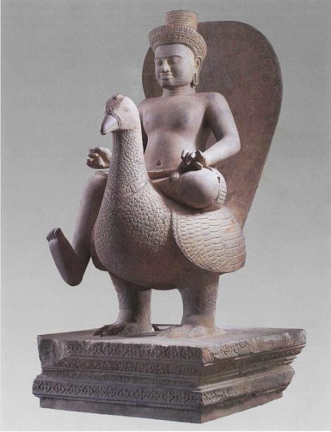 Skanda and a Peacock