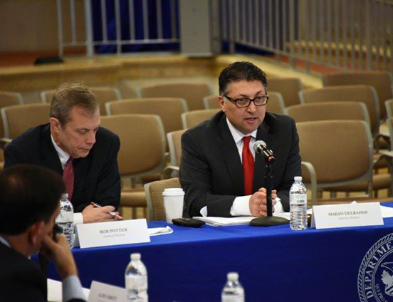 Competition Policy and Advocacy Section Chief Robert Potter and Assistant Attorney General Makan Delrahim