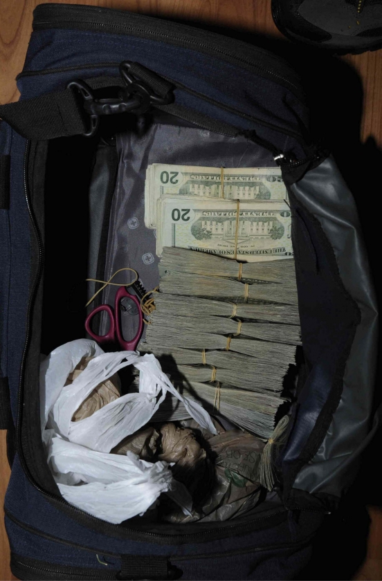 Cash seized by law enforcement