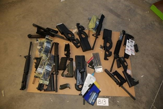 Seized Guns From Shipping Container