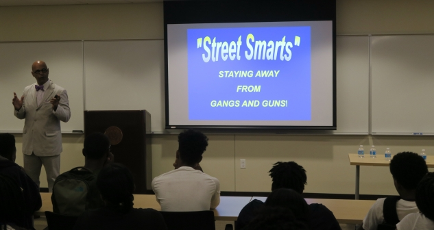 Assistant U.S. Attorney Richard W. Rose launched his latest Street Smarts program with a presentation at the downtown campus of Roger Williams University to students from four Providence high schools attending a summer program on law and criminal justice.