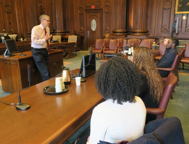 Students from Year Up in Providence participated in Professional Orientation Day at the US Attorney's Office and the US District Court
