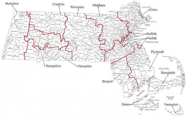 MA county map