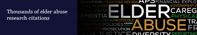 Thousands of elder abuse research citations