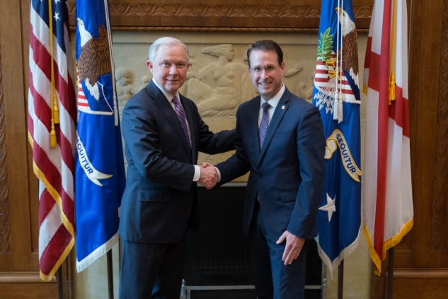 Attorney General Jeff Sessions and U.S. Attorney D. Michael Dunavant