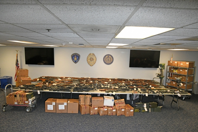 Approx. 228 firearms seized