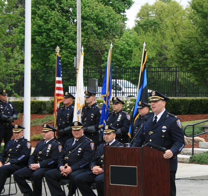 The United States Attorney's Office is honored to participate in today's Cranston Police Department's Police Memorial Ceremony in honor of fallen Law Enforcement Officers.
