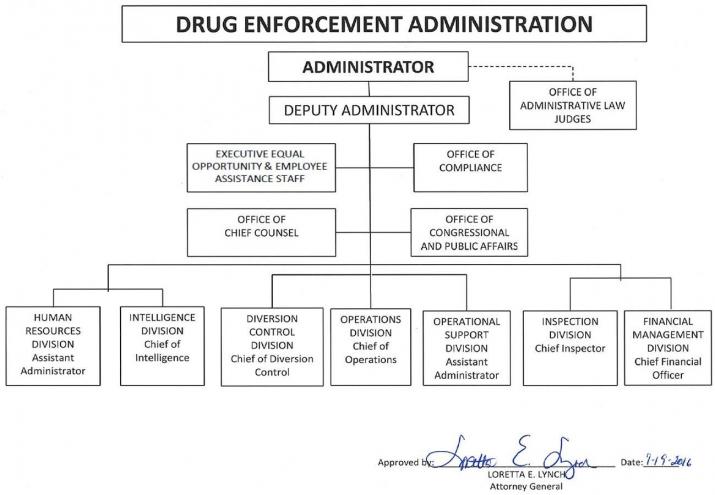 DEA Org Chart