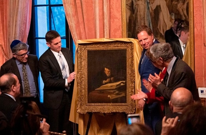 US Attorney Unveiling Koninck Painting