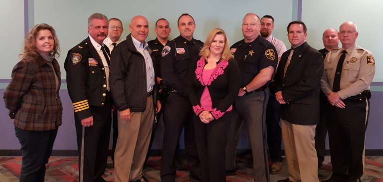 U.S. Attorney Jill Westmoreland Rose meets with local law enforcement in Western North Carolina.
