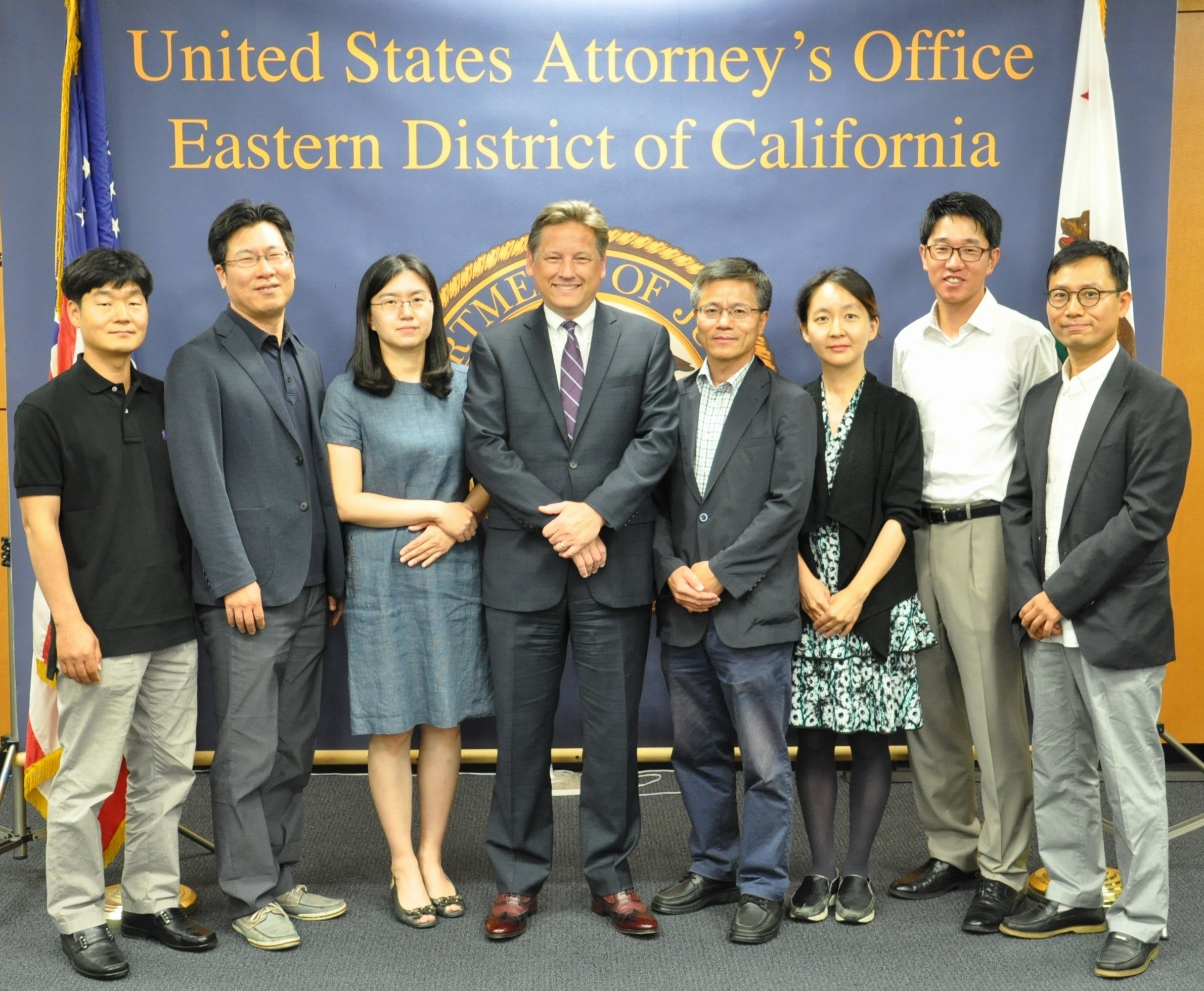 Acting U.S. Attorney Talbert with Visiting Korean Judge Delegation