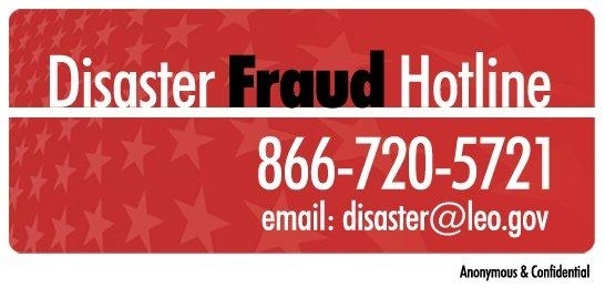 Disaster Fraud Hotline