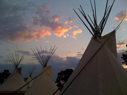 4 Tipis at Kiowa Gourd Clan