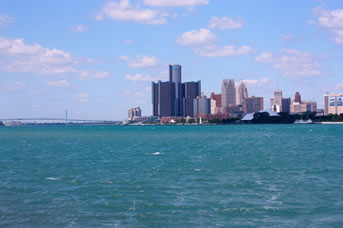 Detroit's skyline from Belle Isle.