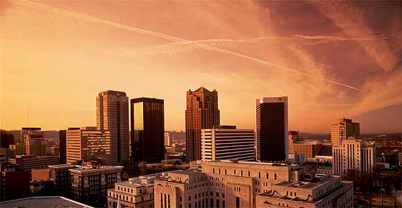 Photo Of Downtown Buildings In Birmingham Alabama Against