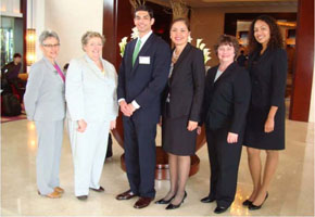 U.S. Attorney Limtiaco (3rd from right), Karima Maloney, Human Trafficking Prosecution Unit (far right) and additional trainees at first Pacific Regional Conference